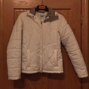 Off white Columbia coat medium